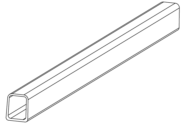 800-0044 - Side rail, Twin (front-rear)